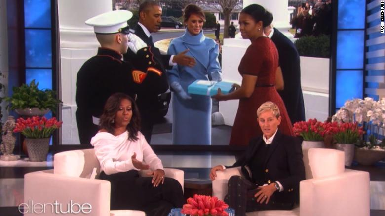 Image result for Michelle Obama tells Ellen to 'forget what they're saying in Washington'