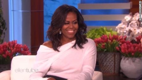 Michelle Obama tells Ellen to 'forget what they're saying in Washington'
