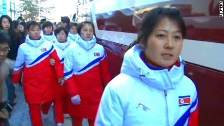 North Korean athletes arrive in South Korea