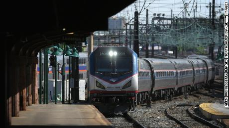 WASHINGTON, DC - MAY 18:  Amtrak Train 111, which was the first Northeast Regional train out of  New York City at 5:30 am this morning, arrives at Union Station May 18, 2015 in Washington, DC. Amtrak has restored its normal service on the Northeast Corridor this morning, five days after the tragic derailment of Northeast Regional Train 188 in Philadelphia.  (Photo by Alex Wong/Getty Images)