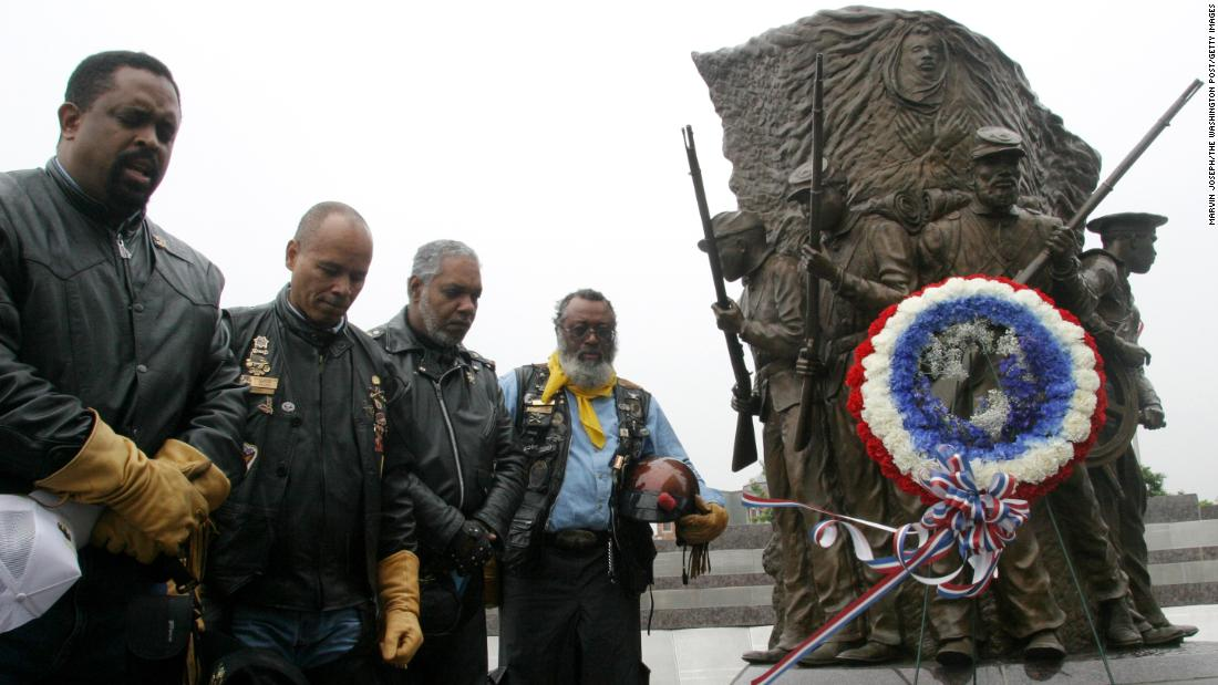 <strong>Buffalo Soldiers Monument, Fort Leavenworth, Kansas:</strong> After lack of acknowledgment for decades, Colin Powell led the effort to build a proper memorial to this all-black military regiment about his title.