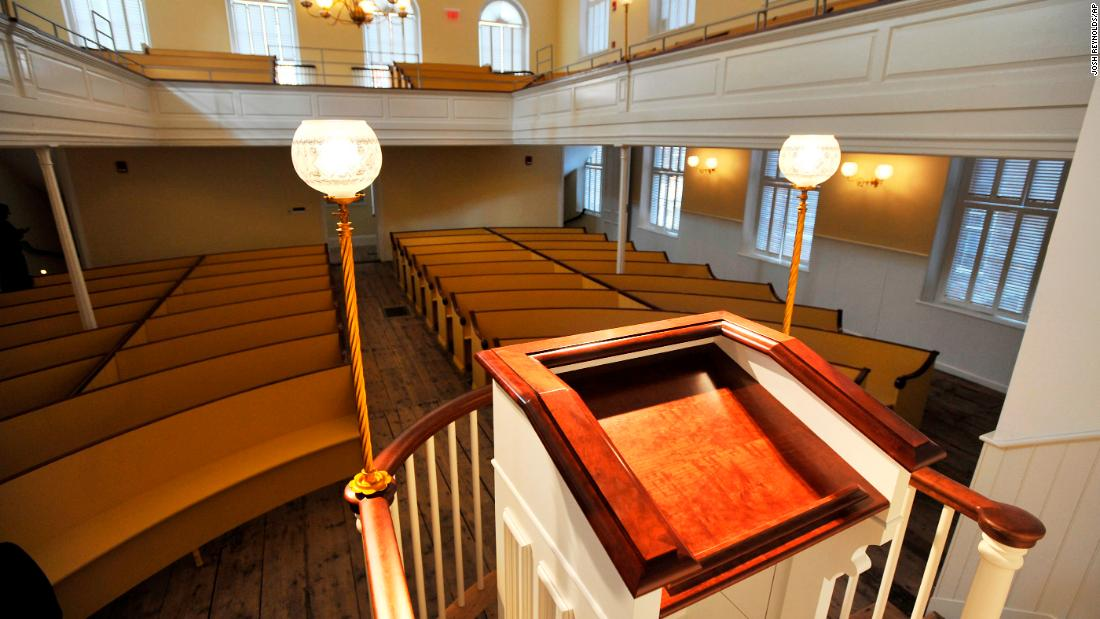 <strong>African Meeting House, Boston, Massachusetts:</strong> Built in 1806, the African Meeting House on Beacon Hill in Boston is the oldest black church edifice still standing in the United States.