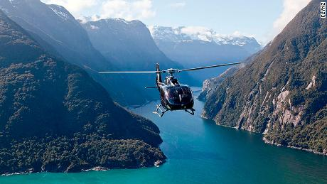 Heli-picnic in New Zealand