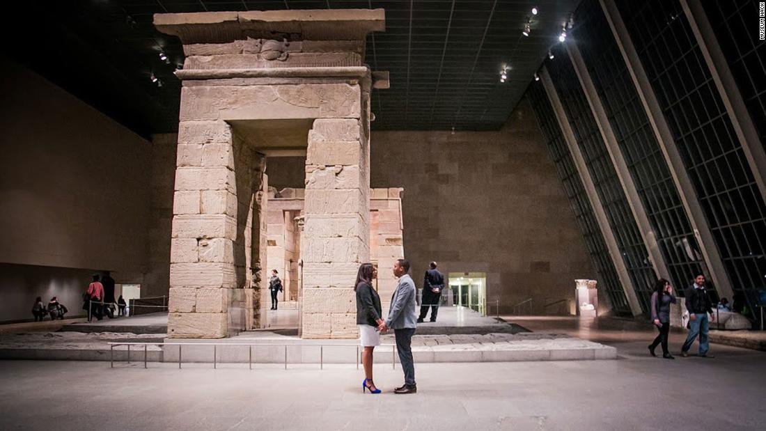 <strong>A night at an American museum:</strong> The company is hosting private Valentine's Day tours for couples for $599, which includes wine and chocolates.