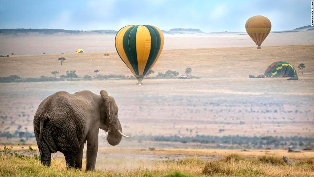 <strong>A balloon with a view in Kenya: </strong> Floating silently for 45 minutes, guests are likely to observe an extraordinary diversity of wildlife before landing. They'll then be offered a full English breakfast and a glass of champagne.