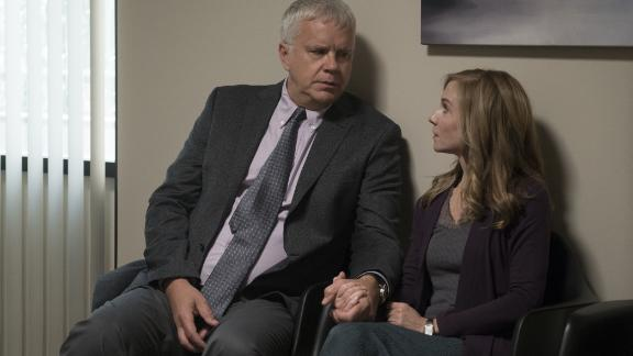Tim Robbins, Holly Hunter in 'Here and Now'