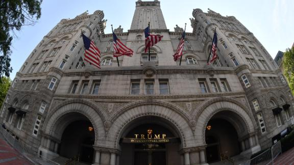 The Trump International Hotel on September 5, 2017 in Washington DC. (PAUL J. RICHARDS/AFP/Getty Images)