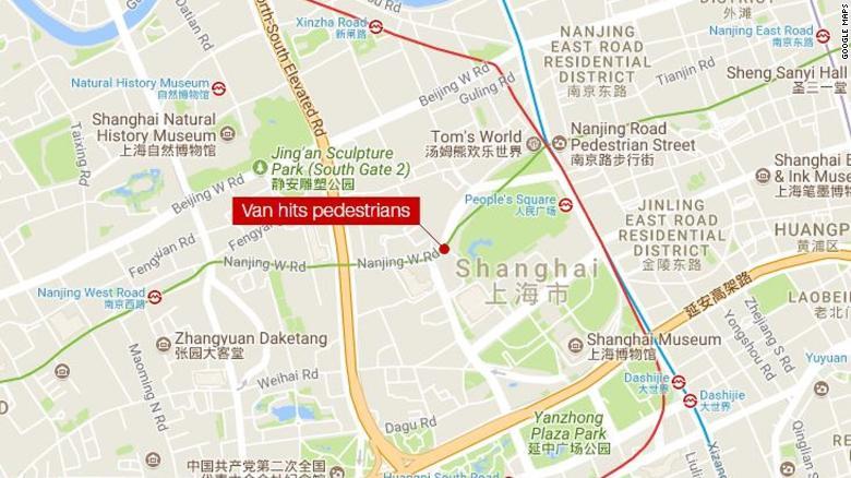 Vehicle plowed into pedestrians in Shanghai CNN Video