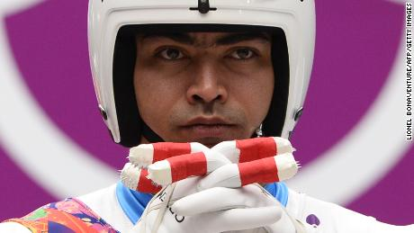 Independent Olympic Participant Shiva Keshavan competes during the Men's Luge Singles run two at the Sliding Center Sanki during the Sochi Winter Olympics on February 8, 2014.  AFP PHOTO / LIONEL BONAVENTURE        (Photo credit should read LIONEL BONAVENTURE/AFP/Getty Images)