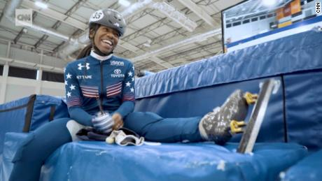 US skater breaking barriers, chasing gold