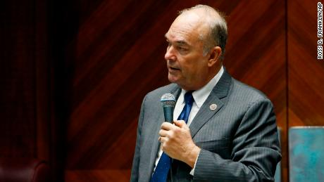 Arizona state Rep. Don Shooter, R-Yuma, reads a statement regarding sexual harassment and other misconduct complaints made against him by Rep. Michelle Ugenti-Rita and others, on the House floor at the Capitol in Phoenix. (AP Photo/Ross D. Franklin, File)