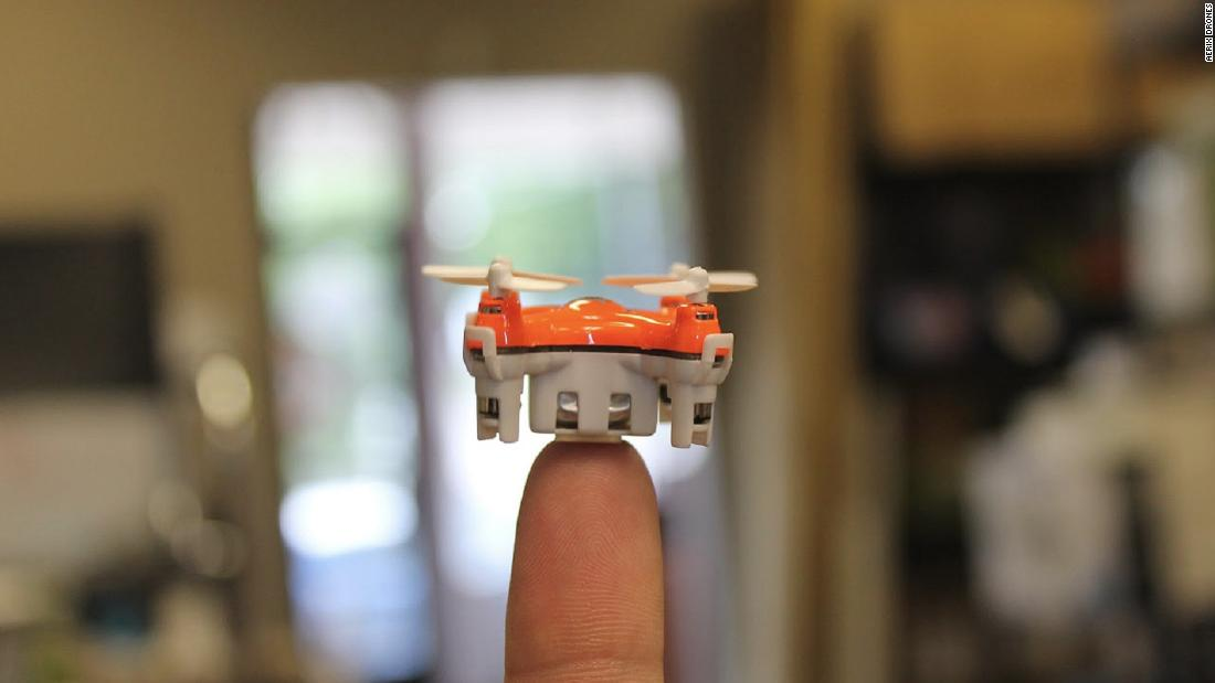"Manufacturers once boasted of drones that could fit in the palm of your hand. The Aerix Aerius takes that claim to new levels with this, the world's smallest quadcopter at just 1.2-inches wide. Ok, so it might not change your life, but other small drones, like the PD-100 Black Hornet, used by the US military, could. <a href=""/2015/02/23/opinion/singer-future-of-war-robotic/index.html"" target=""_blank""><strong>Read more.</a></strong>"