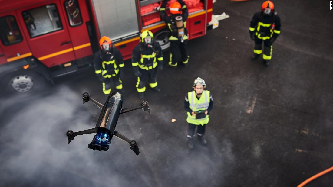 "Parrot's thermal edition drone can provide a live feed identifying heat signatures, such as those given off by a human body, or the hot spots of a burning building. As an inspection tool manually controlled by humans, it can be used by first-responders and in disaster-relief efforts. <a href=""http://money.cnn.com/2017/10/25/technology/parrot-bebop-pro-thermal-search-rescue-agriculture/index.html""><strong>Read more.</strong></a>"