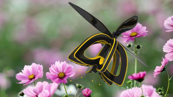 Honeybee decline is a worrying issue, integral as they are to pollination. Industrial design major Anna Haldewang has developed a drone called Plan Bee, which mimics the action of a bee, sucking pollen from one plant and expelling it onto others to enable cross-pollination. Read more.