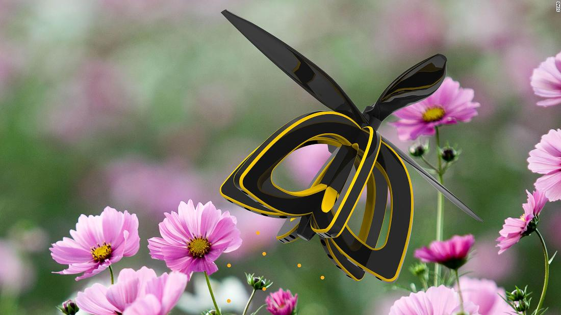 "Honeybee decline is a worrying issue, integral as they are to pollination. Industrial design major Anna Haldewang has developed a drone called Plan Bee, which mimics the action of a bee, sucking pollen from one plant and expelling it onto others to enable cross-pollination. <a href=""http://money.cnn.com/2017/02/15/technology/bee-drone-pollination/index.html""><strong>Read <strong></strong>more. </strong></a>"