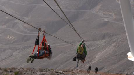 See the world's longest zip line in action