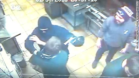 NS Slug: MA: WORKERS STOP FMR COWORKER FROM ROBBERY  Synopsis: Workers tackle ex-manager who tried robbing pizza shop, police say  Keywords: MASSACHUSETTS PIZZA PLACE ROBBERY ARMED SURVEILLANCE VIDEO