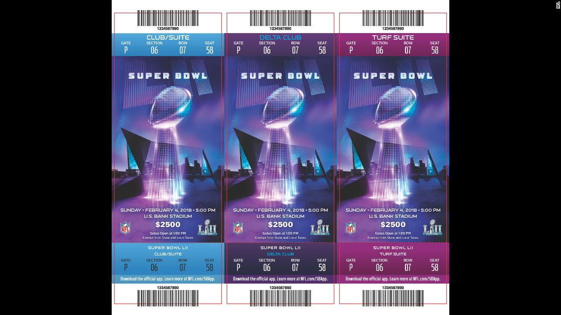 Tickets for Super Bowl LII.