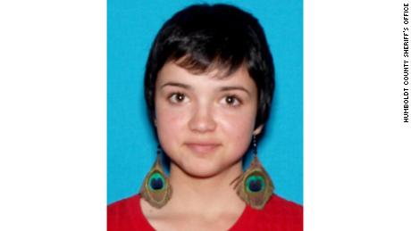 "Rebekah ""Bekah"" Martinez in the missing person information distributed by the Humboldt Count Sheriff's Office."