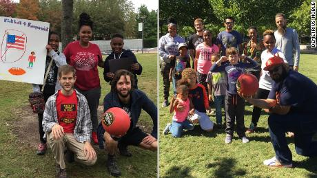 Kickball for Kaepernick in Greensboro, North Carolina.