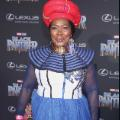 Black Panther Premiere Actor Connie Chiume