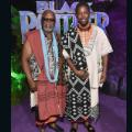 Black Panther Premiere John Kani and Atandwa Kani