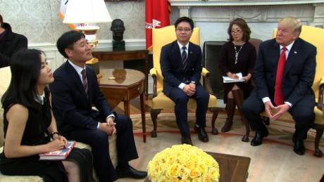 Pres. Trump today met with North Korean defectors. Is that to pressure the North Korean regime, highlighting defectors and dissidents? And when did Trump become interested in human rights issues?