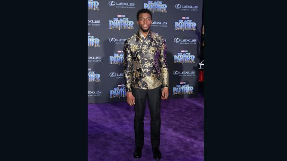 In a stately gold and black Emporio Armani jacket, Black Panther star Chadwick Boseman is the definition of dope.