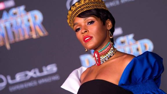 """Janelle Monáe glows in her royal attire. Monáe starred in the 2016 American biographical drama film """"Hidden Figures."""""""