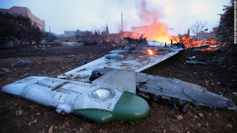 Russian plane shot down in Syria