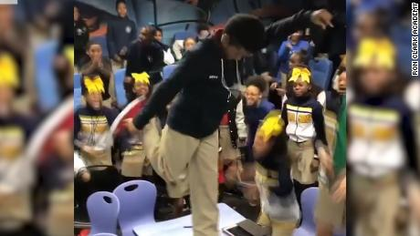 Students' reaction to film surprise goes viral