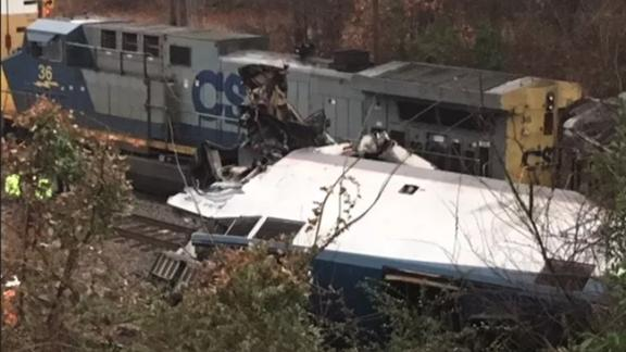 A Miami, Florida-bound Amtrak train collided with a freight train early Sunday in South Carolina