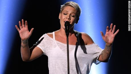 Recording artist Pink performs onstage during the 60th Annual GRAMMY Awards at Madison Square Garden on January 28, 2018 in New York City.
