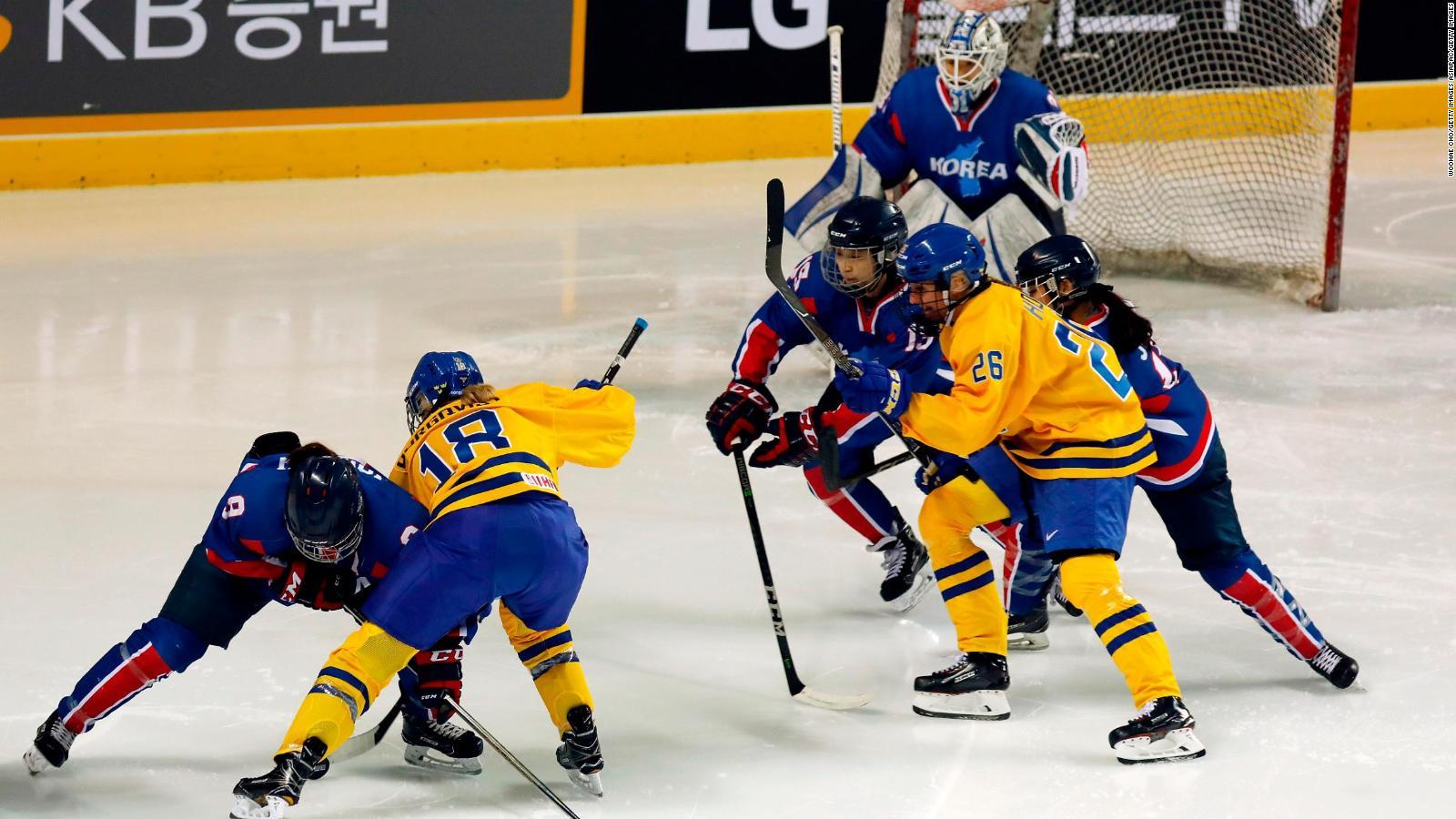 Joint Korean Ice Hockey Team Play For First Time Cnn