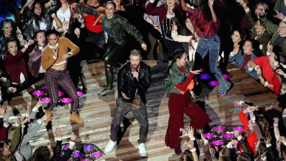This was Timberlake's third time doing the Super Bowl halftime show. He also performed in 2001 and 2004.