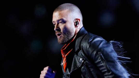 Timberlake performed several of his hit songs from over the years.