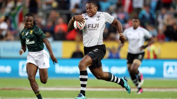 Fiji overturned a first-half deficit against South Africa to claim a first title of the season in Hamilton -- the first time the town has hosted a Sevens World Series tournament after the New Zealand leg was moved from Wellington.