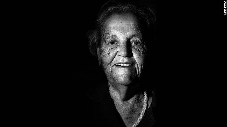 Teresina Pipia, born in 1909, loves doing crosswords and watching soccer on TV.
