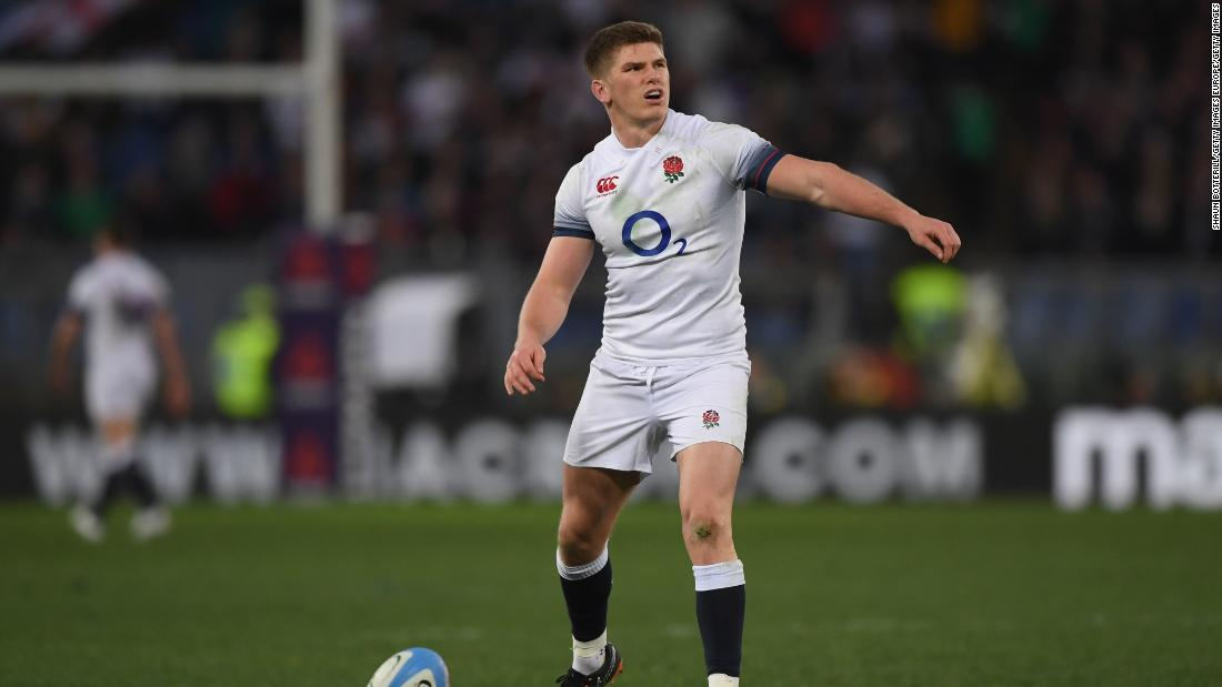 Owen Farrell also touched down and contributed four conversions and a penalty.