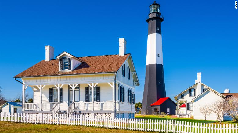 The Tybee Island Light House.