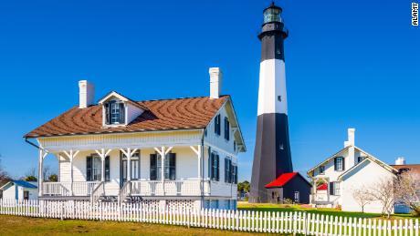 The Tybee Island Light House.