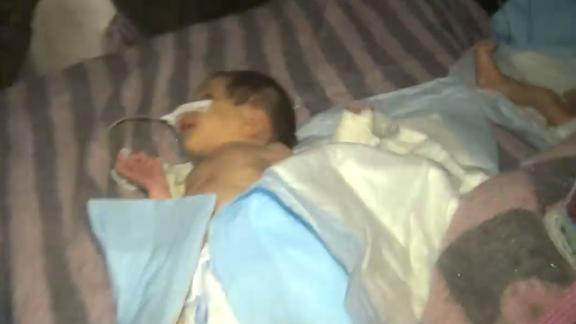 Infants in incubators and on makeshift stretchers were evacuated from a hospital in Maarat al-Numan.