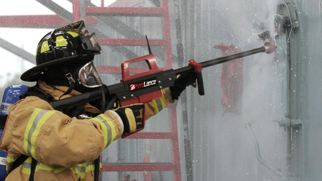 Water gun can cut through concrete