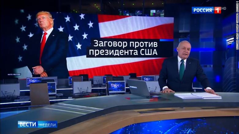 Russian state TV sides with President Trump