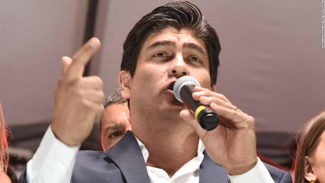 In Costa Rica, conservative gets thumbs down in presidential runoff