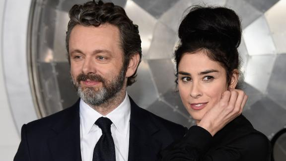 "In February comic Sarah Silverman tweeted that she and ""Masters of Sex"" star Michael Sheen broke up after four years. She chalked it up to their long distance relationship."