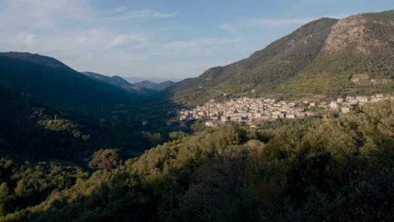 The village of Tiana, in the province of Nuoro, central Sardinia, where Antonio Todde lived to 110.