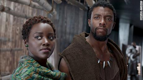 The king of Wakanda Chadwick Boseman and Lupita Nyong'o.