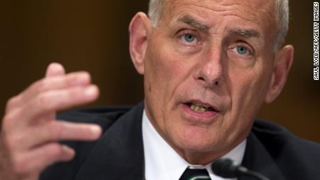 US Secretary of Homeland Security John Kelly testifies during a Senate Homeland Security and Governmental Affairs Committee hearing on Capitol Hill in Washington, DC, June 6, 2017. / AFP PHOTO / SAUL LOEB        (Photo credit should read SAUL LOEB/AFP/Getty Images)