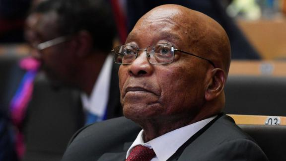 Zuma attends an African Union summit in January 2018.